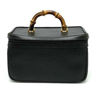 GUCCI 013.122.2491 Bamboo Makeup bag Hand Bag Vani